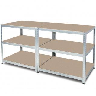 Packtisch / Werkbank, BxTxH 1800x600x900 mm, verzinkt, Tragkraft 265 kg/ Boden