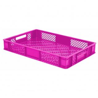 Bäckerkiste / Eurobehälter mit 2 Durchfassgriffen, LxBxH 600 x 400 x 90 mm, pink