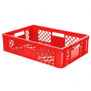 Stapelbehälter / Eurobehälter mit 4 Durchfassgriffen, LxBxH 600 x 400 x 150 mm, rot