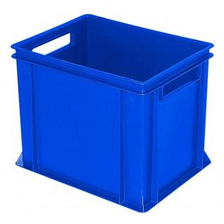 Eurobehälter mit 2 Durchfassgriffen, LxBxH 400 x 300 x 320 mm, blau