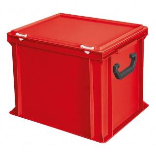 Aufbewahrungskoffer / Kunststoffkoffer, LxBxH 400 x 300 x 330 mm, 31 Liter, rot