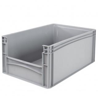 Eurobehälter / Stapelbehälter mit Eingrifföffnung, LxBxH 600 x 400 x 270 mm, grau