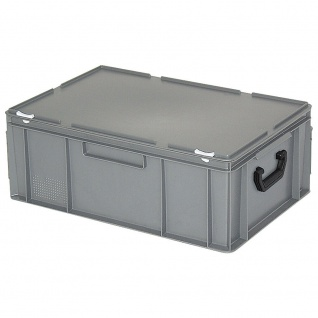 Aufbewahrungskoffer/Kunststoffkoffer, LxBxH 600x400x230 mm, 43 Liter, grau, PE-HD