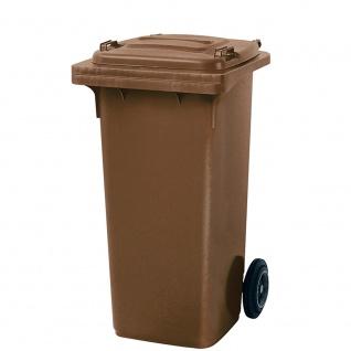 Mülltonne, Inhalt 120 Liter, HxBxT 930 x 480 x 550 mm, Farbe braun
