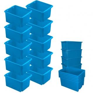 10x Drehstapelbehälter, Spar-Set, LxBxH 455 x 360 x 245 mm, 32 Liter, blau, PP