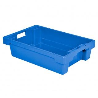 Drehstapelbehälter, LxBxH 600 x 400 x 150 mm, Inhalt 25 Liter, blau, Boden und Wände geschlossen