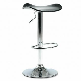 Barhocker, Tragkraft 110 kg, schwarz, Höhe 640-840 mm, Sitzfläche aus Acryl