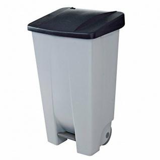 Abfalleimer mit Rollen, 120 Liter, HxBxT 880 x 510 x 430 mm, grau/schwarz
