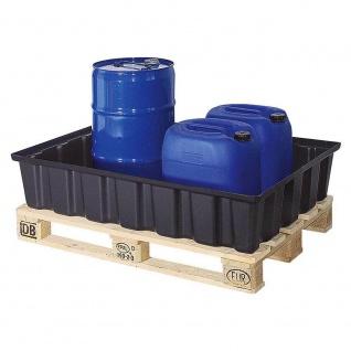 Auffangwanne aus Kunststoff, 220 l, LxBxH 1230x830x260 mm + GRATIS Ölwechselset