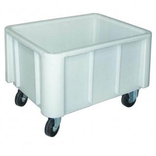 Großbehälter auf Rollen, natur/weiß, Inhalt 140 Liter, LxBxH 800 x 600 x 510 mm