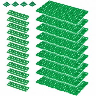 25-teiliges Set, 3, 4 m² Bodenrost, grün, aus lebensmittelechtem PE-HD Kunststoff
