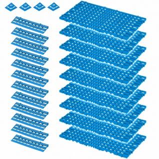 25-teiliges Set, 3, 4 m² Bodenrost, blau, aus lebensmittelechtem PE-HD Kunststoff