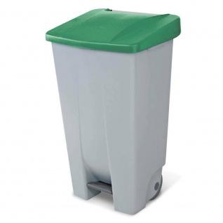 Abfalleimer mit Rollen, 120 Liter, HxBxT 880 x 510 x 430 mm, grau/grün