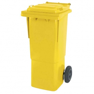 Mülltonne, Inhalt 60 Liter, gelb, BxTxH 445x520x930 mm, hohe Ausführung