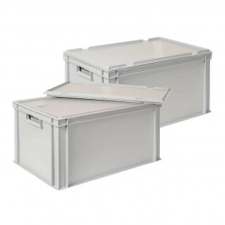 2x 35 Liter Thermobox aus EPS in Eurobox 600x400 mit Deckel, grau