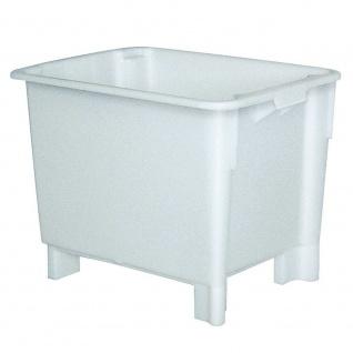 Drehstapelbehälter, 800 x 600 x 600 mm, Inhalt 170 Liter, weiß, Boden und Wände geschlossen
