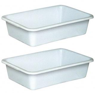 2 Lebensmittelwanne, Inhalt 40 Liter, LxBxH 710 x 490 x 185 mm, weiß, PE-HD