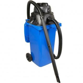 Industriesauger mit 120 Liter DIN Tonne blau, 1100Watt, inkl Steckdosenanschluss