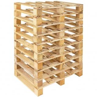 10x Holz-Einwegpalette im halben Euromaß (800x600x135 mm), 4-seitig einfahrbar