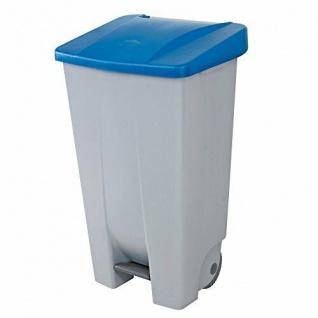 Abfalleimer mit Rollen, 120 Liter, HxBxT 880 x 510 x 430 mm, grau/blau