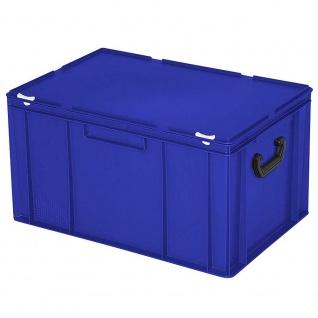 Kunststoffkoffer / Eurokoffer / Gerätekoffer, blau, LxBxH 600 x 400 x 330 mm