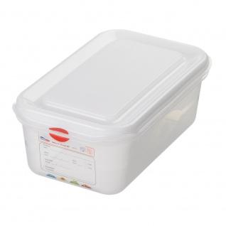 GN-Vorratsdose/Frischhaltebox mit Deckel, GN1/4, LxBxH 265 x 162 x 100 mm, Inhalt 2, 8 Liter