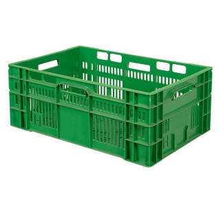 Gemüsekiste / Stapelkorb, LxBxH 600 x 400 x 240 mm, 46 Liter, Industriequalität