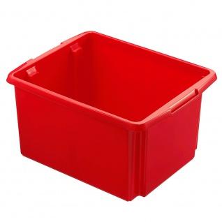 Drehstapelbehälter, Inhalt 32 Liter, Farbe rot, LxBxH 455 x 360 x 245 mm - Vorschau