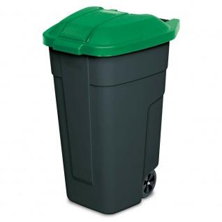 Wertstoffsammler, 100 Liter, Korpus anthrazit, Deckel grün, HxBxT 850x510x550 mm