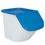 Zutatenspender, Inhalt 40 Liter, LxBxH 610 x 430 x 450 mm, Behälter weiß, Deckel blau