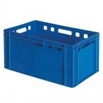 Eurobehälter, stapelbar, LxBxH 600 x 400 x 300 mm, blau, lebensmittelecht