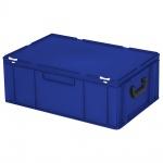 Kunststoffkoffer / Eurokoffer mit 2 Tragegriffen, LxBxH 600 x 400 x 230 mm, blau
