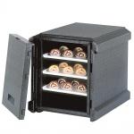 Thermobox mit Fronteinschub und Deckel, BxTxH 580 x 700 x 620 mm, anthrazit