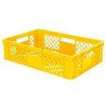 Stapelbehälter / Eurobehälter mit 4 Durchfassgriffen, LxBxH 600 x 400 x 150 mm, gelb