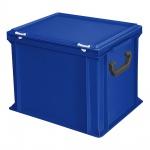 Kunststoffkoffer / Eurokoffer, Inhalt 31 Liter, LxBxH 400 x 300 x 330 mm, blau