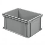 Eurobehälter mit 2 Griffleisten, LxBxH 400 x 300 x 220 mm, grau