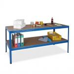 Arbeitstisch/Packtisch, blau, HxBxT 900 x 1800 x 600 mm, Tragkraft Pro Ebene 350 kg