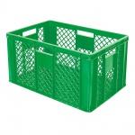 Stapelbehälter / Eurobehälter mit 4 Durchfassgriffen, LxBxH 600 x 400 x 320 mm, grün