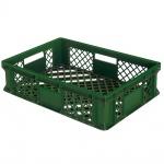 Stapelbehälter / Eurobehälter mit 4 Durchfassgriffen, LxBxH 600 x 400 x 150 mm, grün