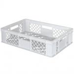 Stapelbehälter / Eurobehälter mit 4 Durchfassgriffen, LxBxH 600 x 400 x 150 mm, weiß