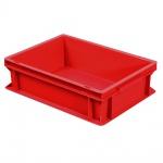 Eurobehälter mit 2 Griffleisten, LxBxH 400 x 300 x 120 mm, rot