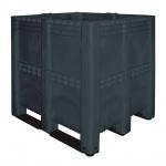 Volumenbox mit 3 Kufen, 1400 l, 1300x1150x1250 mm, Wände/Boden geschlossen