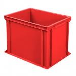 Eurobehälter mit 2 Griffleisten, LxBxH 400 x 300 x 320 mm, rot