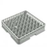 Spülkorb für Geschirr und Gläser, 49 Fächer, LxB 500x500 mm, grau, lichtes Fachmaß 62x62 mm