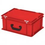 Kunststoffkoffer / Eurokoffer mit 1 Tragegriff, LxBxH 400 x 300 x 180 mm, rot