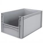 Eurobehälter / Stapelbehälter mit Eingrifföffnung, LxBxH 600 x 400 x 320 mm, grau