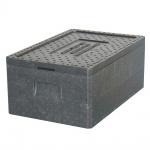 Thermobox GN1/1 mit Deckel, LxBxH 600 x 400 x 230 mm, Inhalt 29 Liter, anthrazit