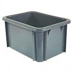 Eurobehälter für schwere Lasten, stapelbar, lebensmittelecht, LxBxH 400 x 300 x 215 mm, grau