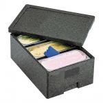 Thermobox für 3 Eisbehälter, 41 l, 600 x 400 x 260 mm, anthrazit