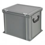 Kunststoffkoffer / Gerätekoffer, Inhalt 31 Liter, LxBxH 400 x 300 x 330 mm, grau
